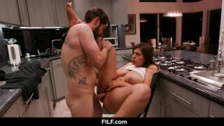 Thick babe banged by daddy (again)