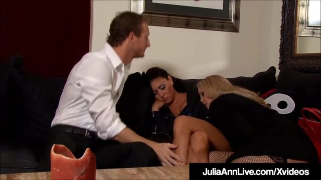 Milfs julia ann & jessica jaymes tied up & fucked!